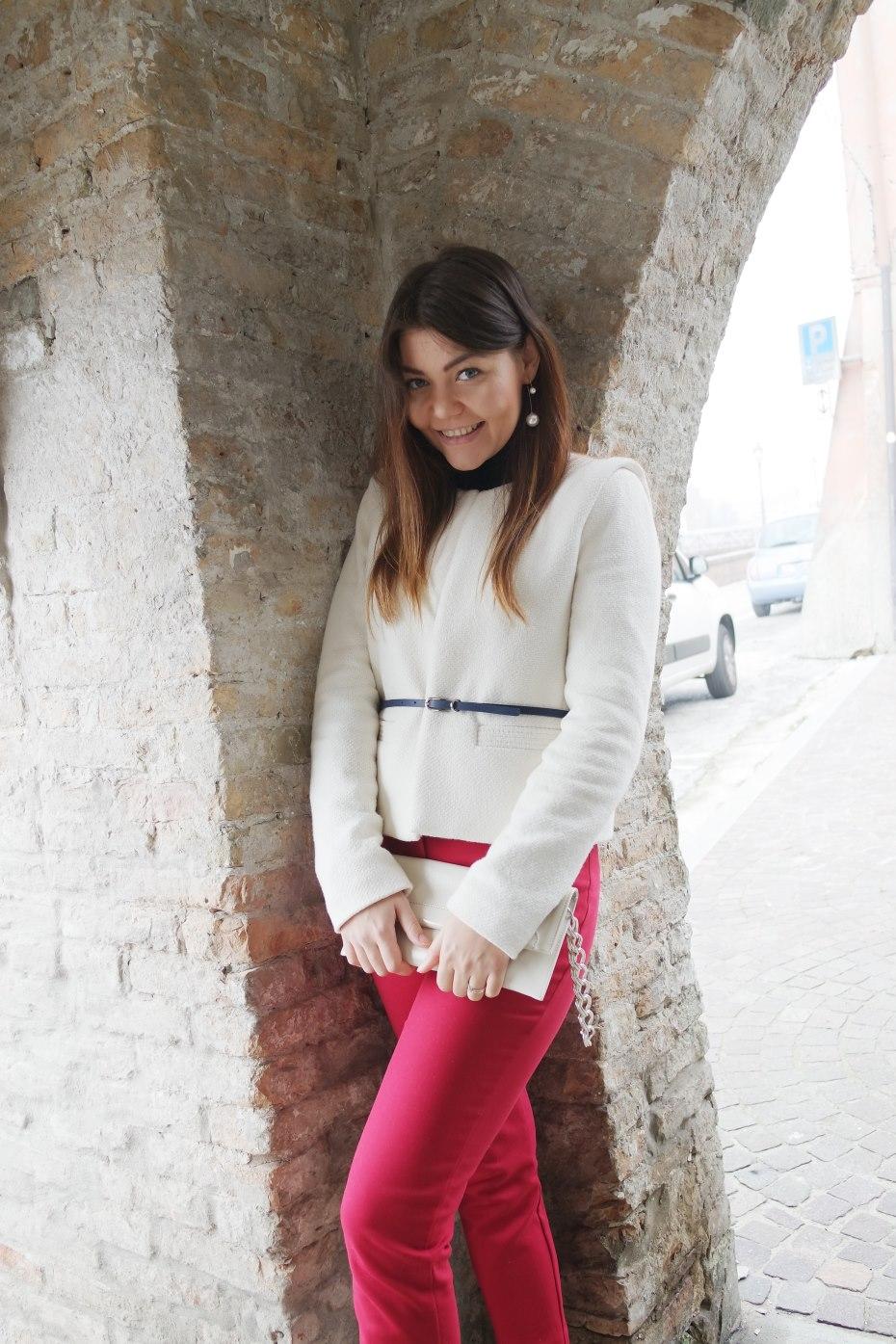 Outfit colorato per l'autunno